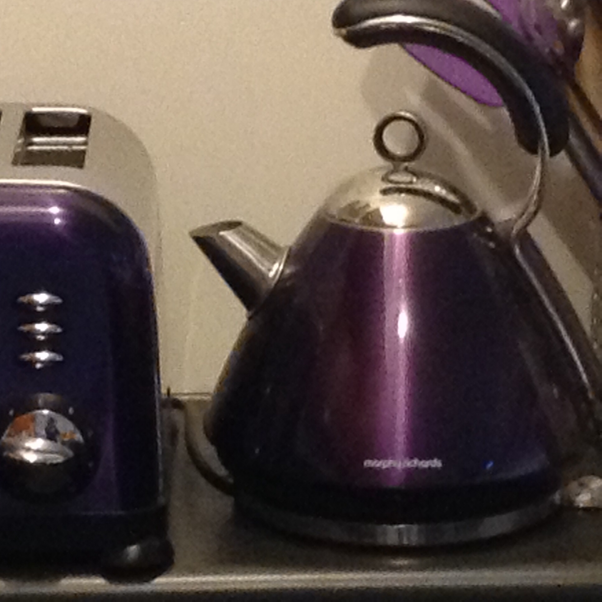 Morphy Richards Usa: Purple Morphy Richards Kettle And Toaster