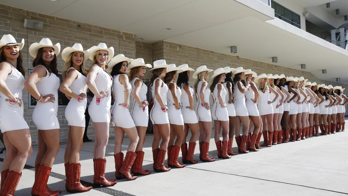 Grid Girls From Us Formula1 Gp