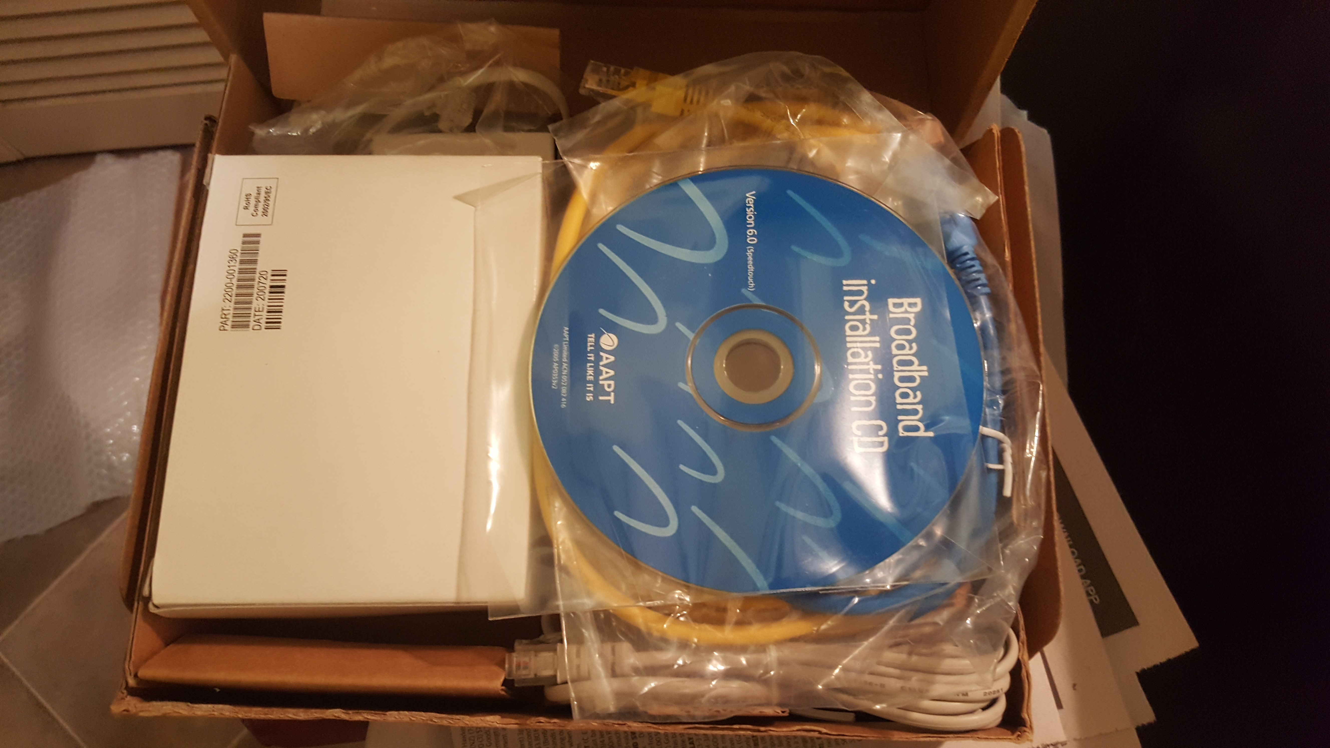 Thomson Speedtouch ADSL Modem Install DISC Cables All New