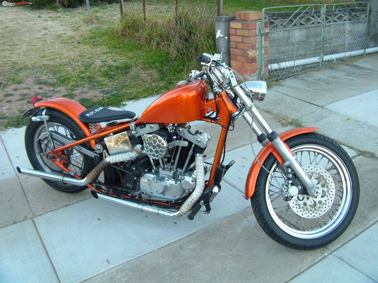 1979 Harley Davidson Custom Iron Head Sportster Boostcruising