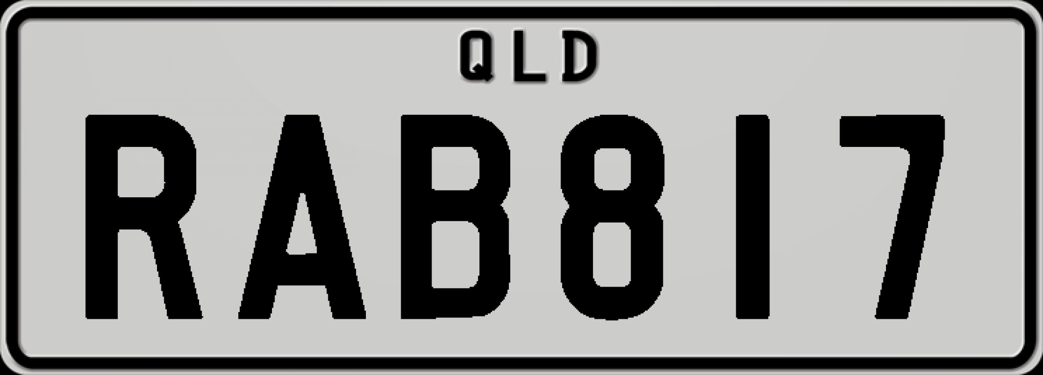 RAB817 Number Plates