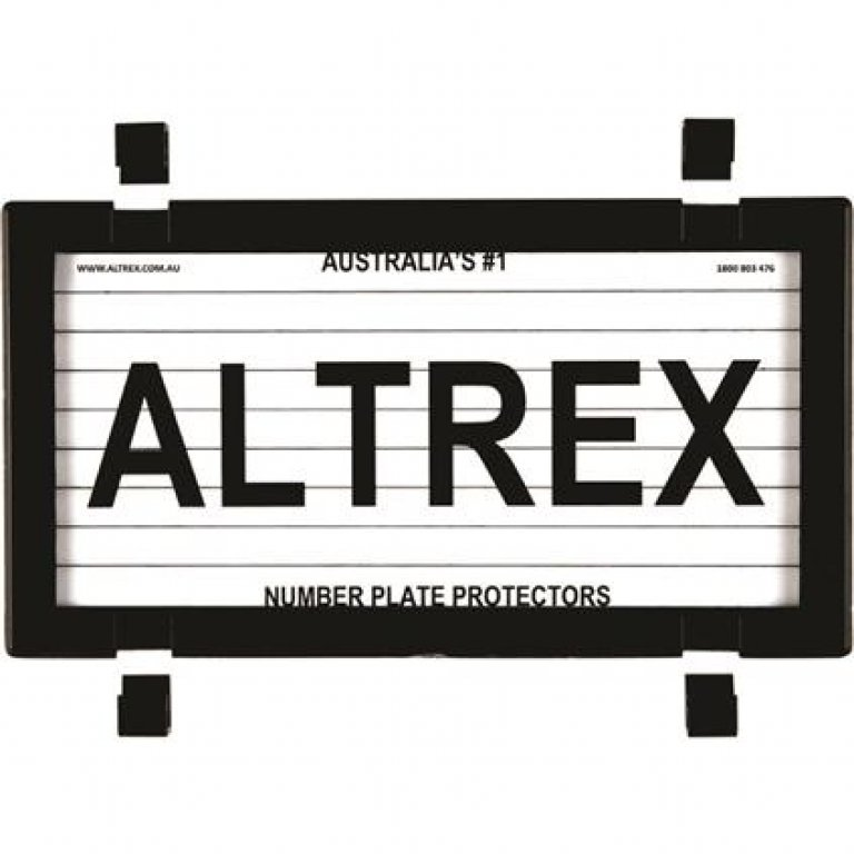 Altrex Motorbike Number Plate Protector - With Lines, 9dmbl