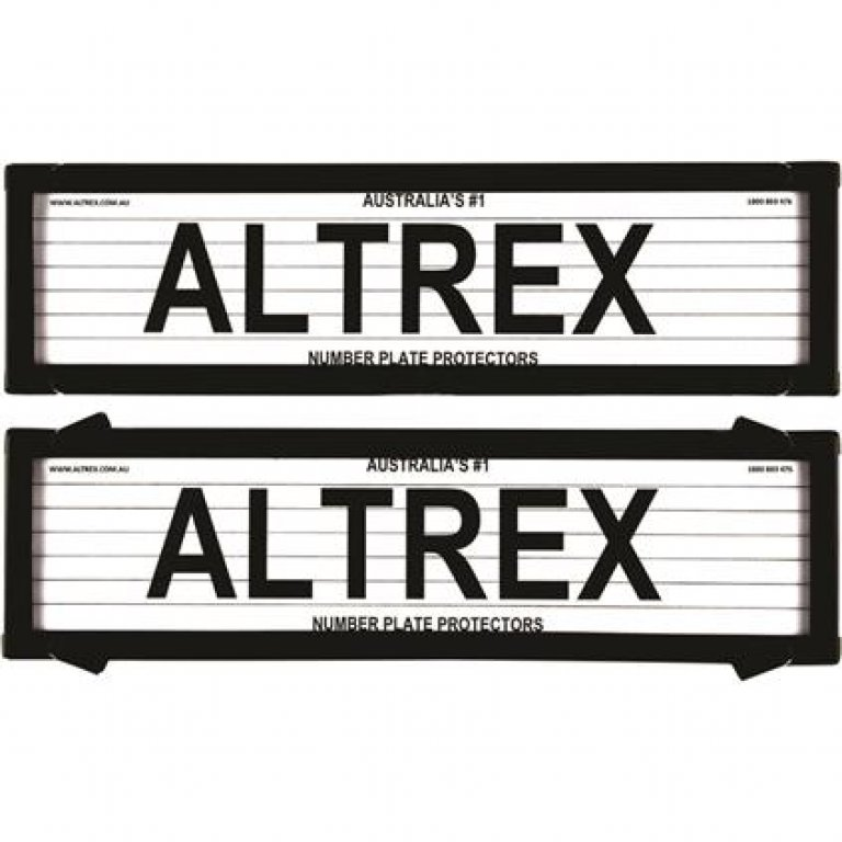 Altrex Number Plate Protector - 6 Figure, Slimline, With Lines, 6VSL