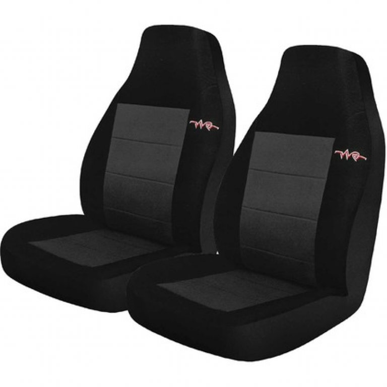 RAE CORD SEAT Covers - Grey, RAE Headrests, Airbag Compatible