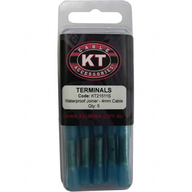 KT Cable Waterproof BUTT Splice - Blue, 5 PACK