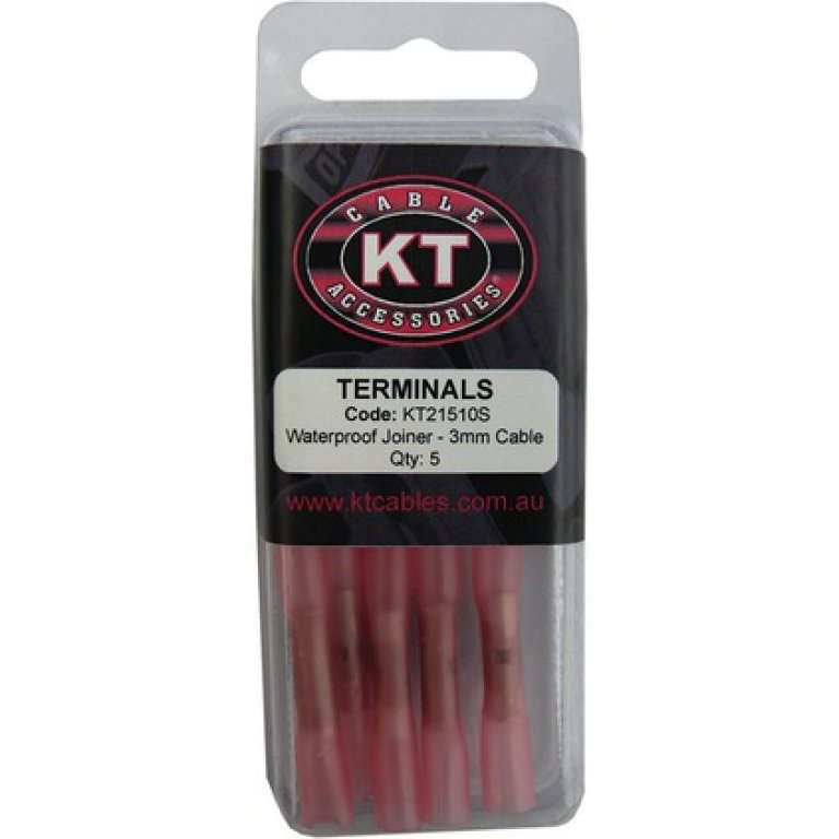KT Cable Waterproof BUTT Splice - Red, 5 PACK