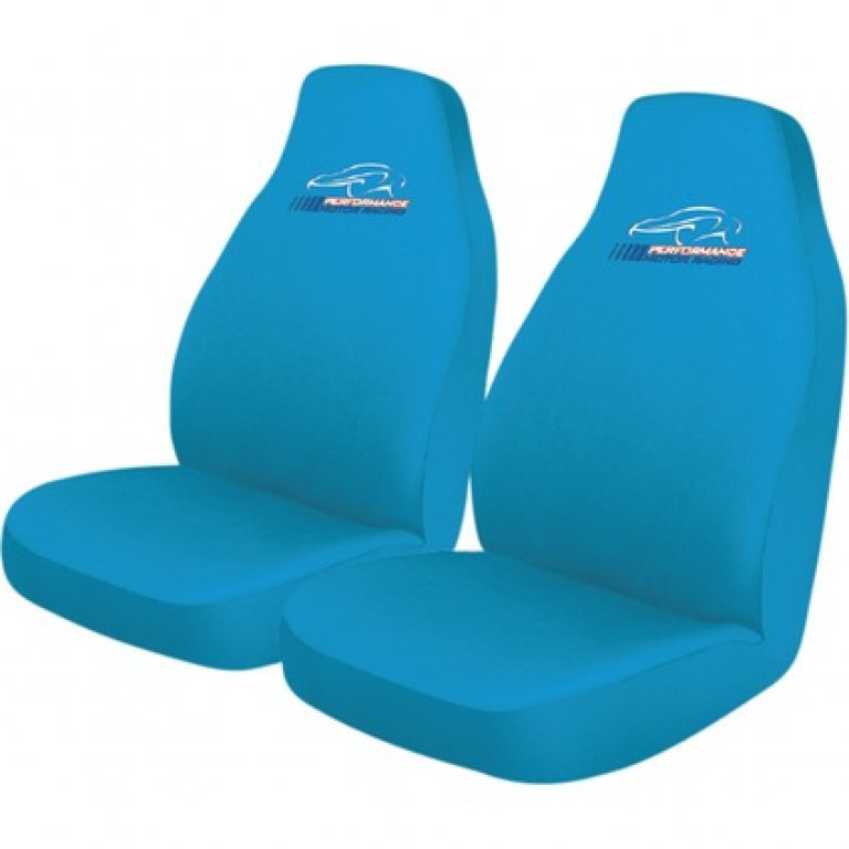Performance Racing SLIP On SEAT Covers - Blue, Built-in Headrests