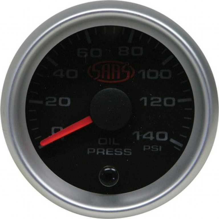 SAAS Oil Pressure Gauge - Black, 52MM