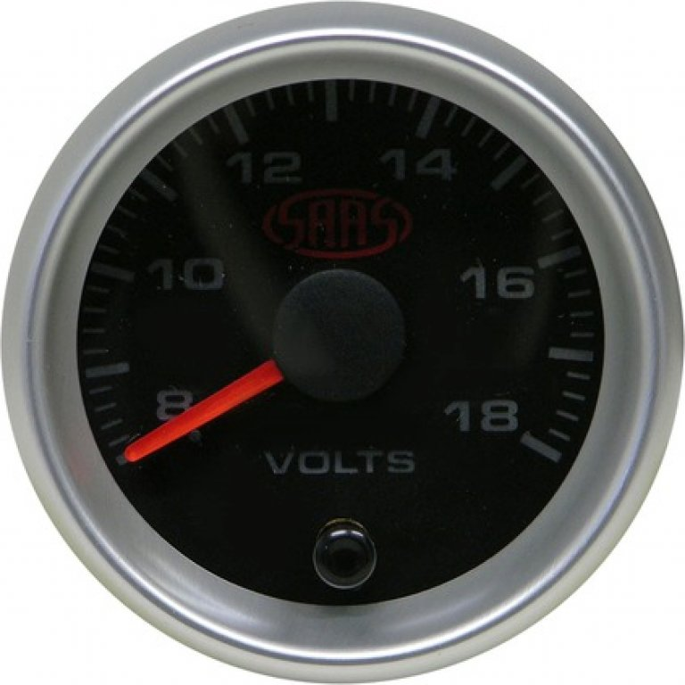 SAAS VOLT Gauge - Black, 52MM