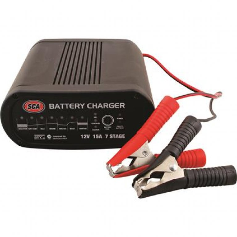 SCA Battery Charger - 7 Stage, 12 VOLT, 15 AMP