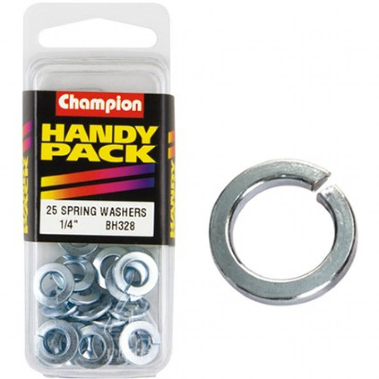 Champion Spring Washers - 1 / 4inch, BH328, Handy PACK