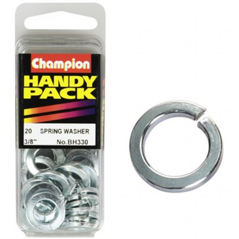 Champion Spring Washers - 3 / 8inch, BH330, Handy PACK