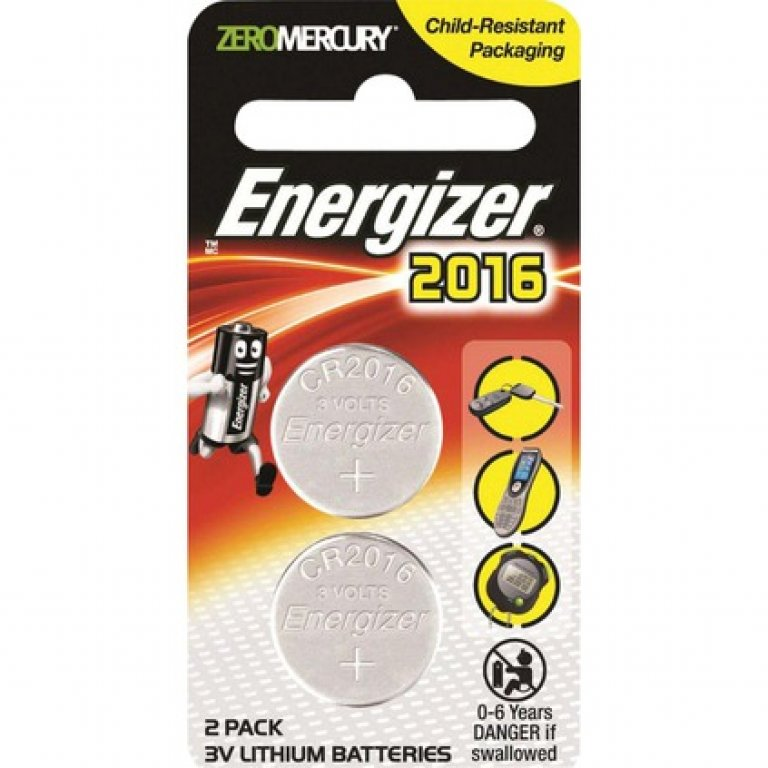Energizer Speciality Lithium Battery - 2016, 2 PACK