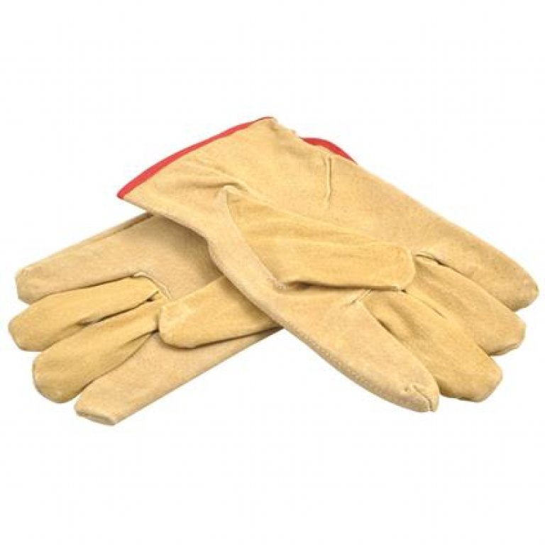 Gripwell Work Gloves - Leather, Large