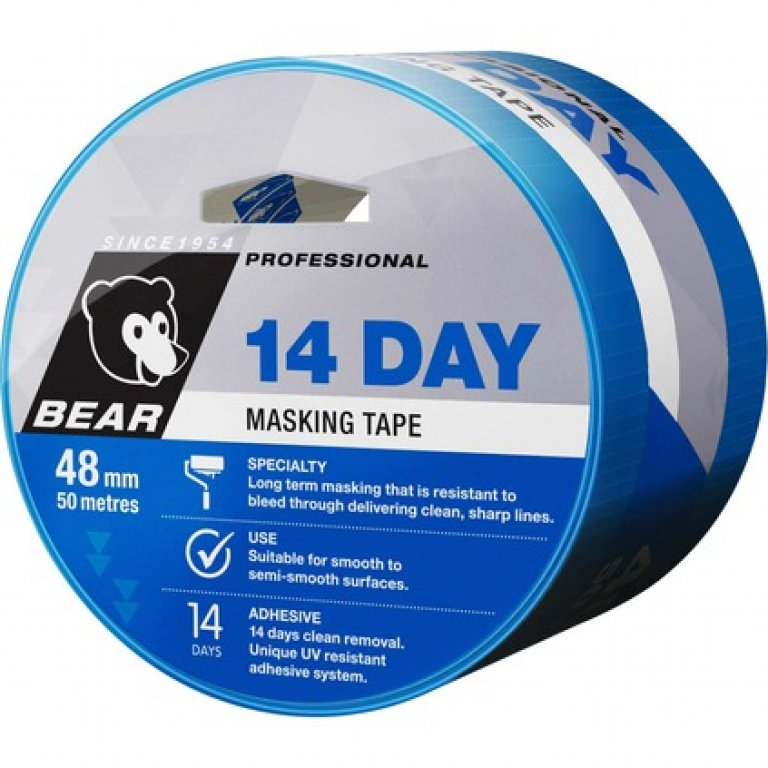 Norton 14 Day Masking TAPE - Blue, 48MM X 50M