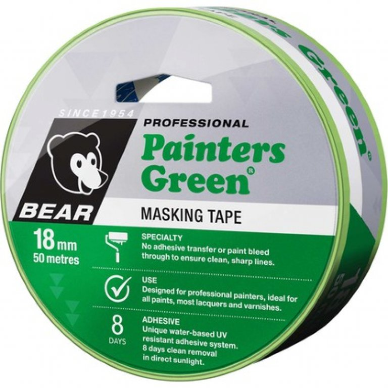 Norton Painters Masking TAPE - Green, 18MM X 50M