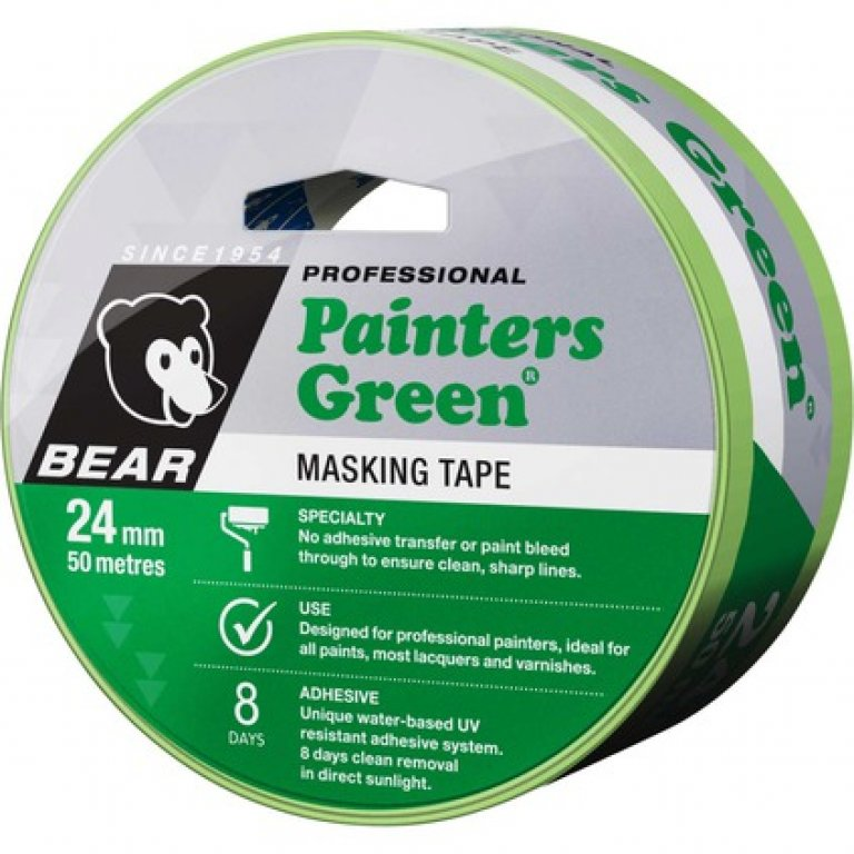 Norton Painters Masking TAPE - Green, 24MM X 50M