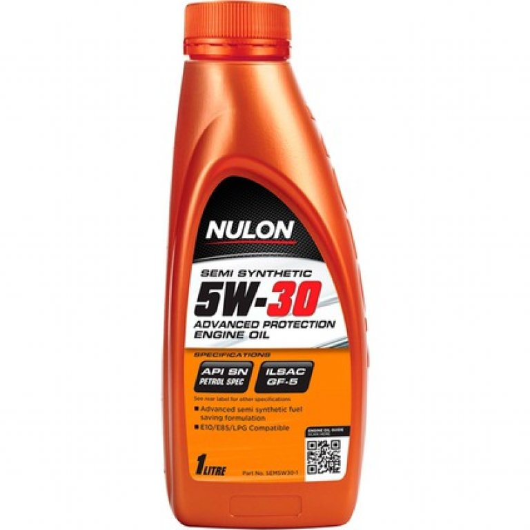 Nulon SEMI Synthetic Advanced Protection Engine Oil - 5W-30 1 Litre