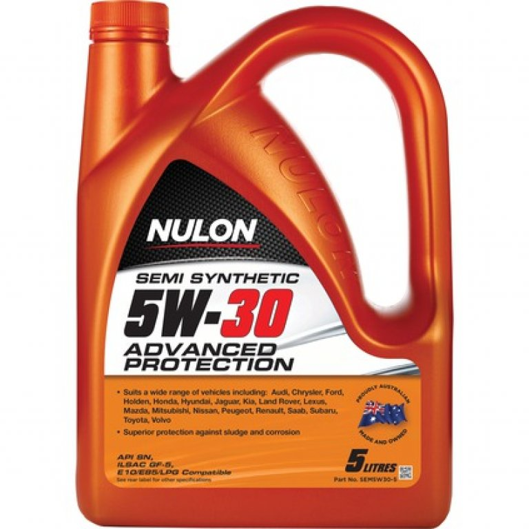Nulon SEMI Synthetic Advanced Protection Engine Oil - 5W-30 5 Litre