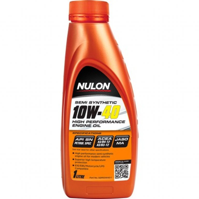 Nulon SEMI Synthetic High Performance Engine Oil - 10W-40 1 Litre
