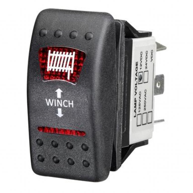 Ridge Ryder Sealed Rocker Switch - In / Out, Winch