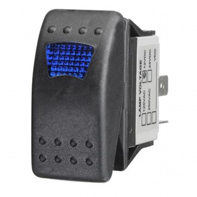 Ridge Ryder Sealed Rocker Switch - On / Off, Blue LED