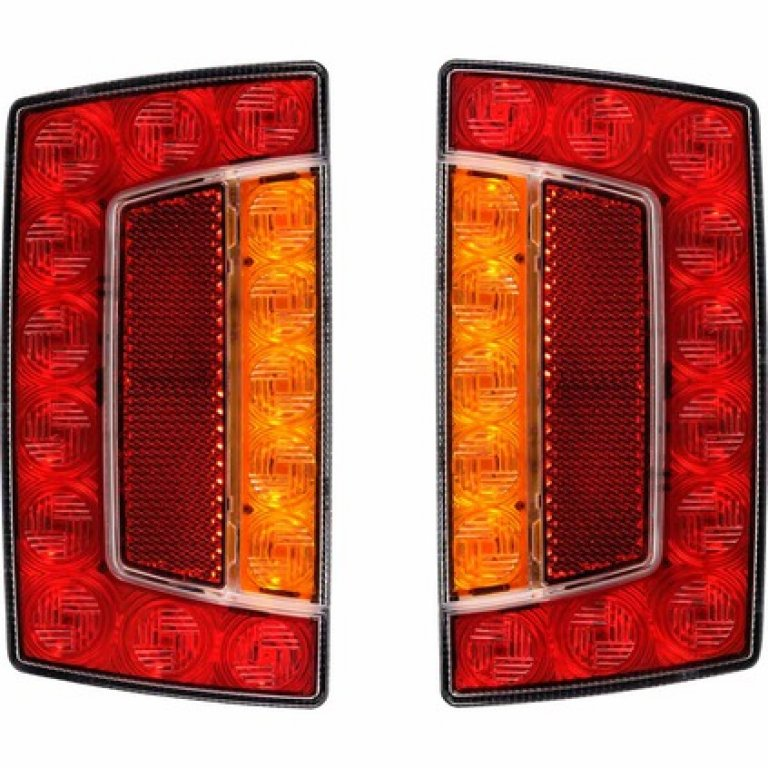 SCA Trailer LAMP - LED, Rectangle, Combination, 2 PACK