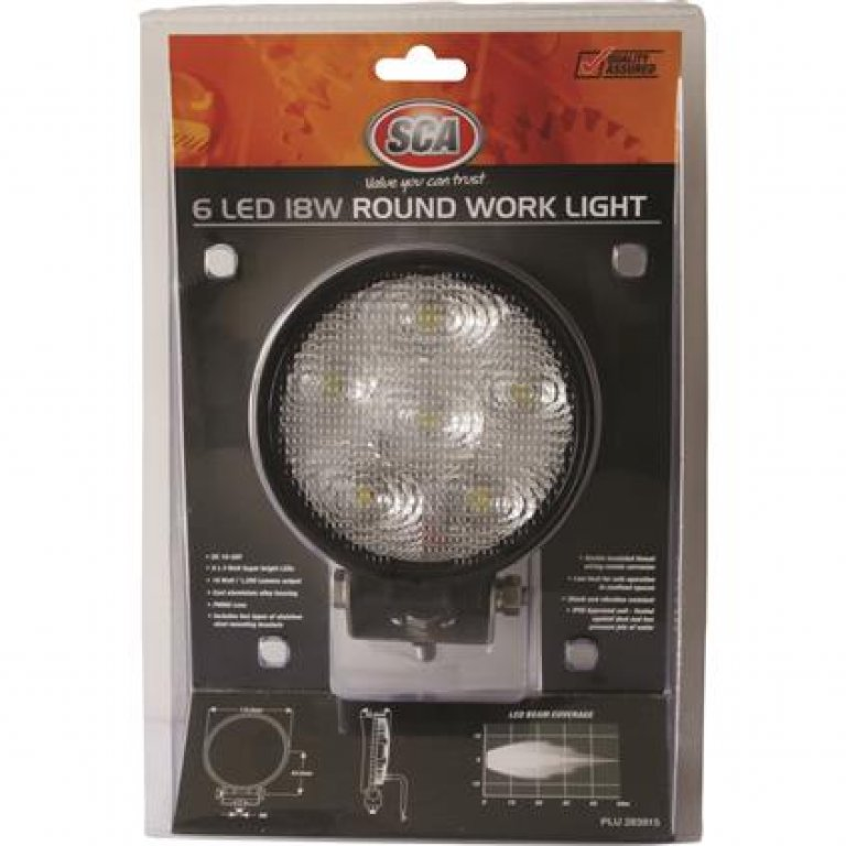 SCA Work Light - 18W, Round