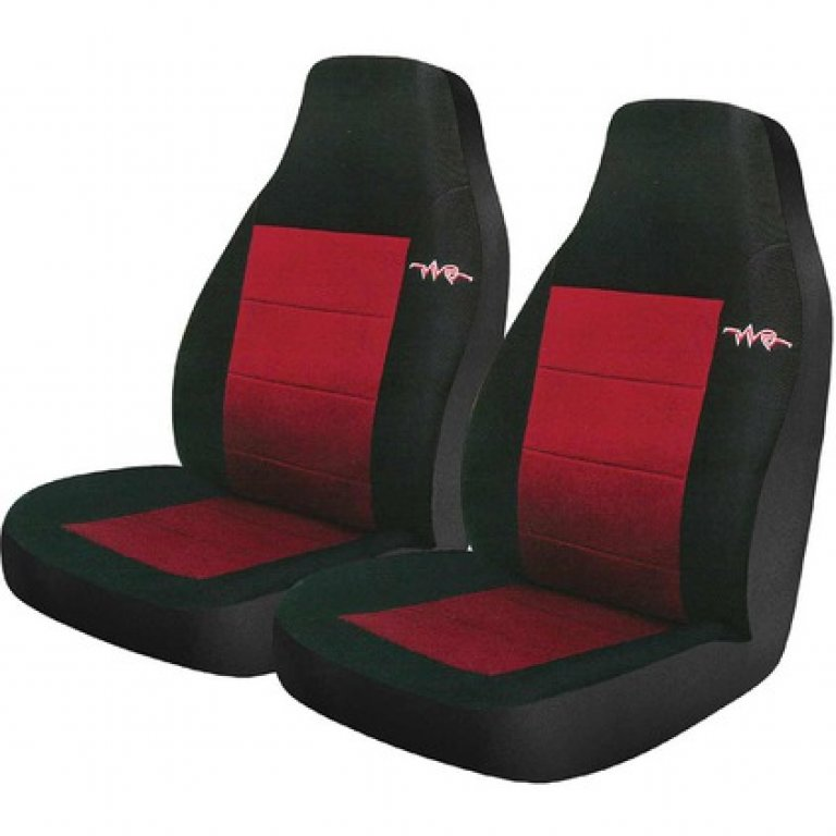 RAE CORD SEAT Covers - Red, RAE Headrests, Airbag Compatible