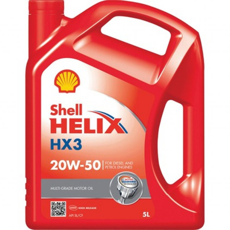 Shell Helix HX3 Engine Oil - 20W-50,, 5 Litre