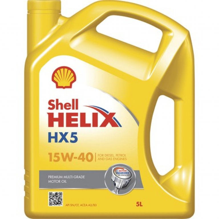 Shell Helix HX5 Engine Oil - 15W-40,, 5 Litre