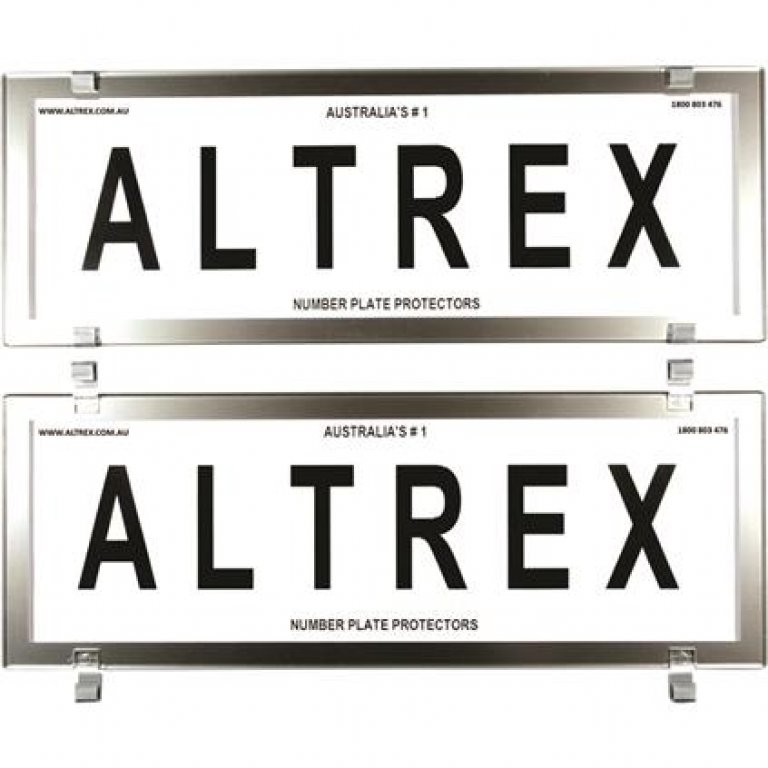 Altrex Number Plate Protector - 6 Figure, Clear, Chrome