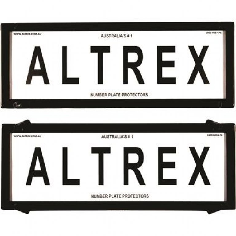 Altrex Number Plate Protector - 6 Figure, Deluxe, Clear, 6NL