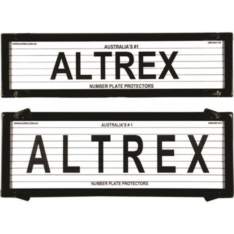 Altrex Number Plate Protector - 6 Figure, Slimline, With Lines, 6QSL