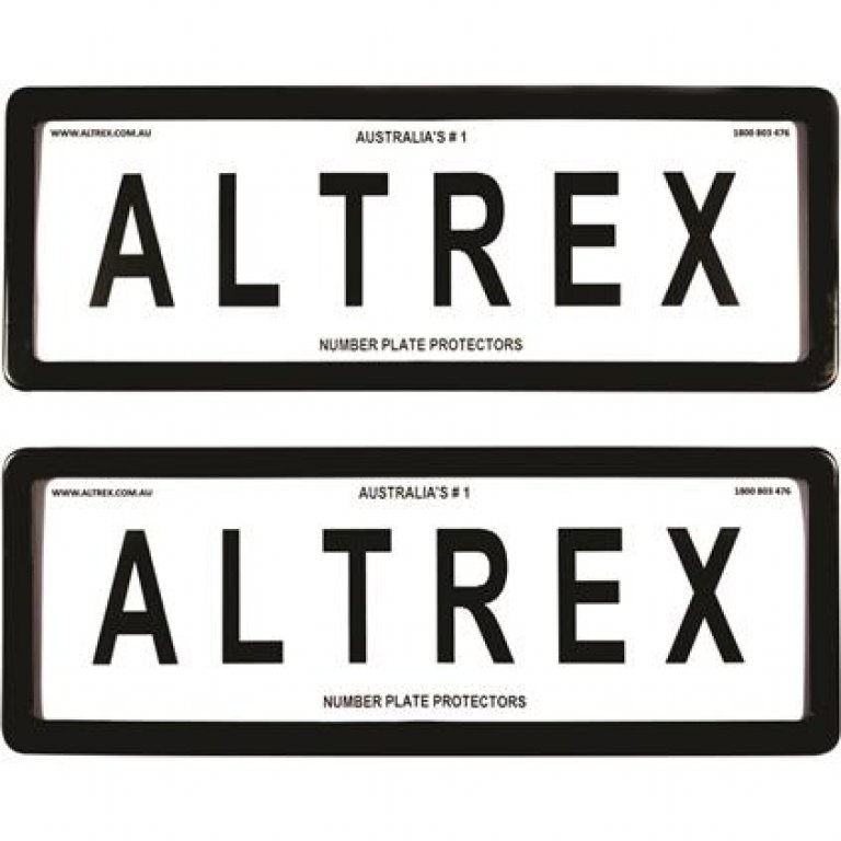 Altrex Number Plate Protector - 6 Figure, Standard, Clear, 6ST