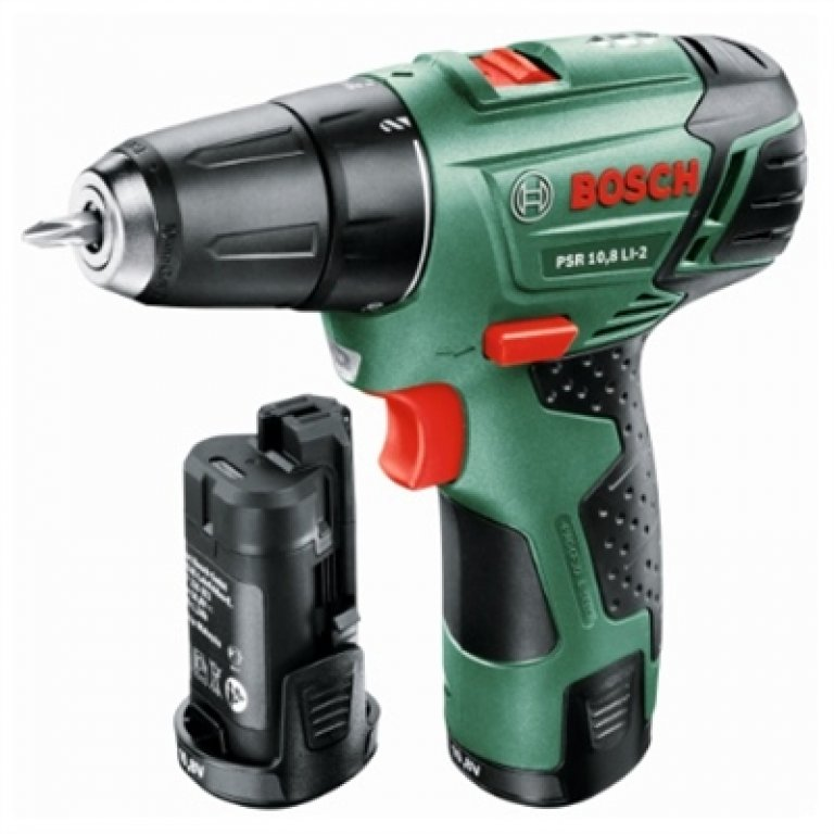 Bosch Green 10.8v Cordless 2 Speed Impact Drill/driver With 2 X Batter