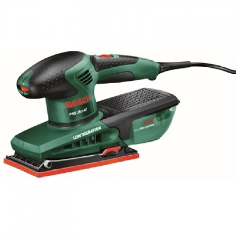 Bosch Green 250W 1/3 Sheet Sander With Microfilter System & Carry CASE