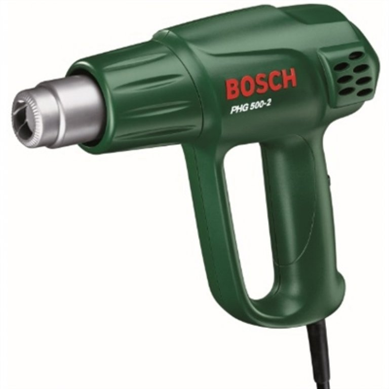 Bosch Green HEAT GUN With 2 Stage Temperature & HEAT Control - PHG 500