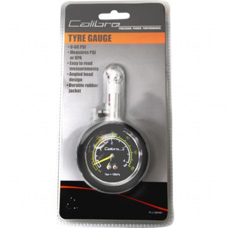 Calibre DIAL Tyre Gauge - 0-60 PSI