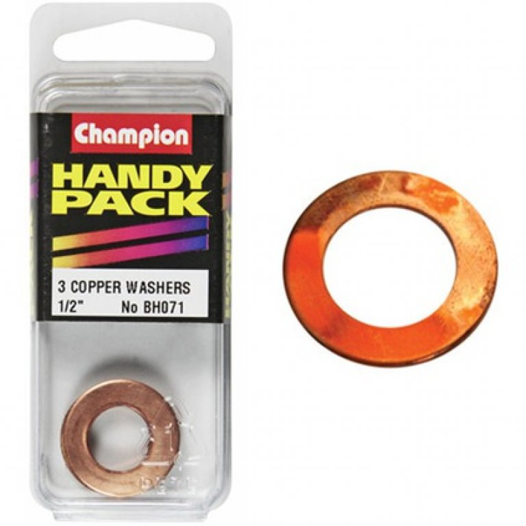 Champion Copper Washers - 1 / 2inch, Handy PACK