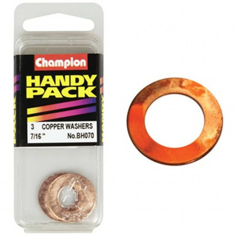 Champion Copper Washers - 7 / 16INCH, BH070, Handy PACK