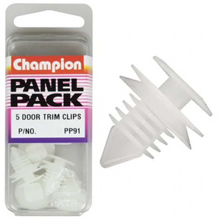 Champion Door TRIM Clips - PP91, Panel PACK