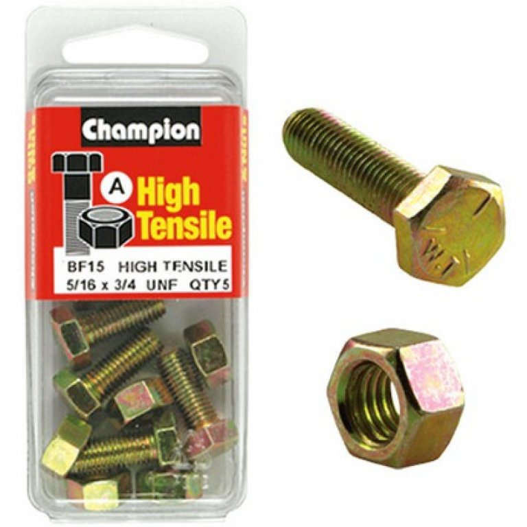 Champion High Tensile Bolts and Nuts - UNF 3 / 4inch X 5 / 16INCH