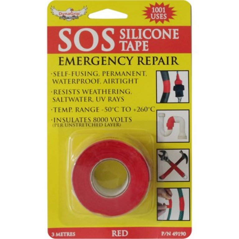 Dynagrip SOS Silicone TAPE - Red, 3M X 25MM
