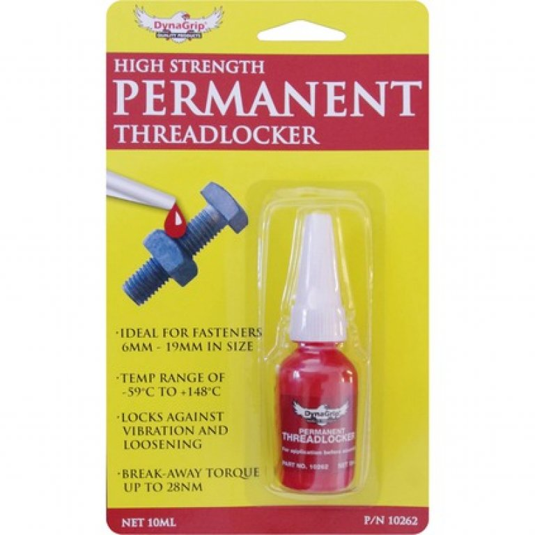 Dynagrip Threadlocker - High Strength, Red, 10ML