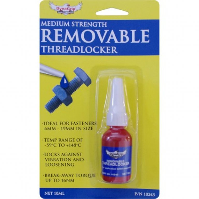Dynagrip Threadlocker - Medium Strength, Blue, 10ML
