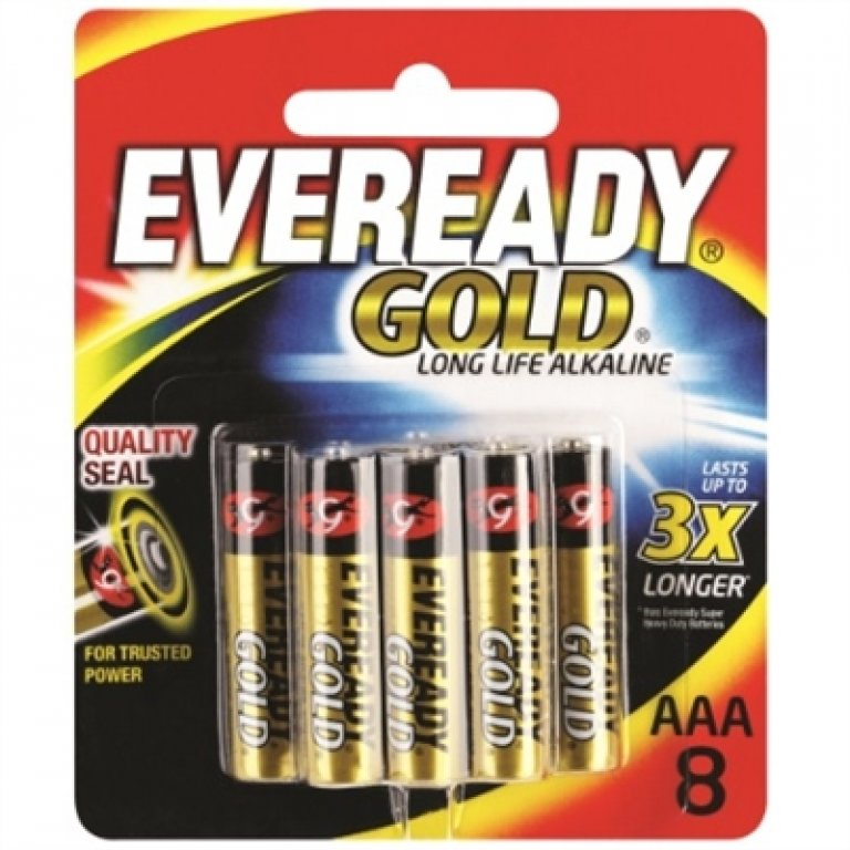 Eveready Gold AAA Battery - 8 PACK
