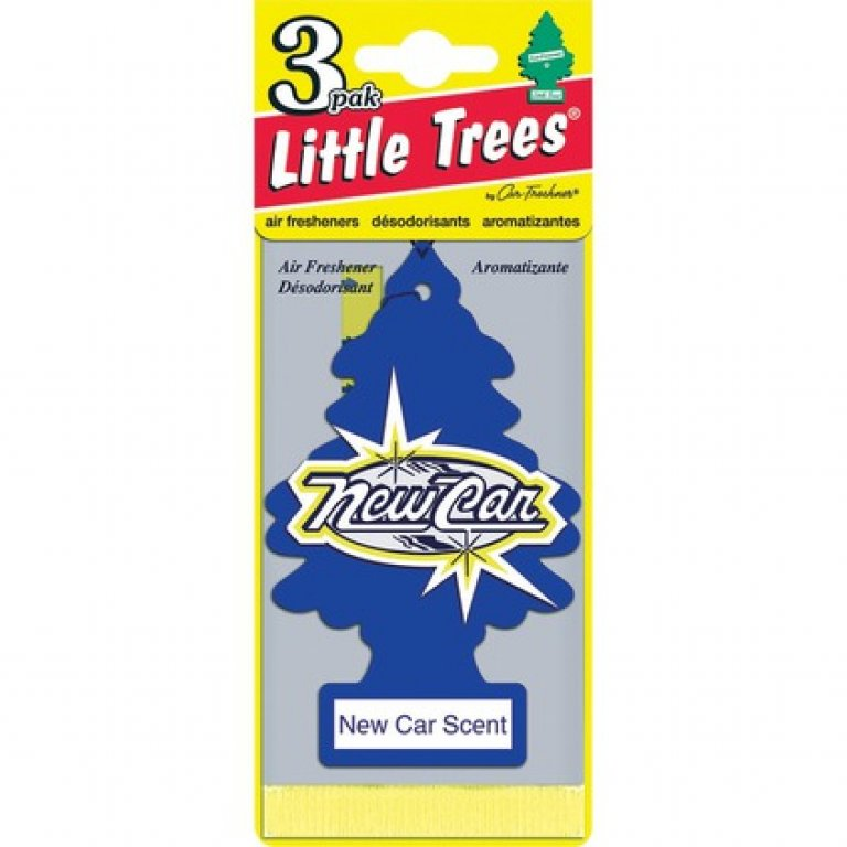 Little Trees Air Freshener - New Car, 3 PACK