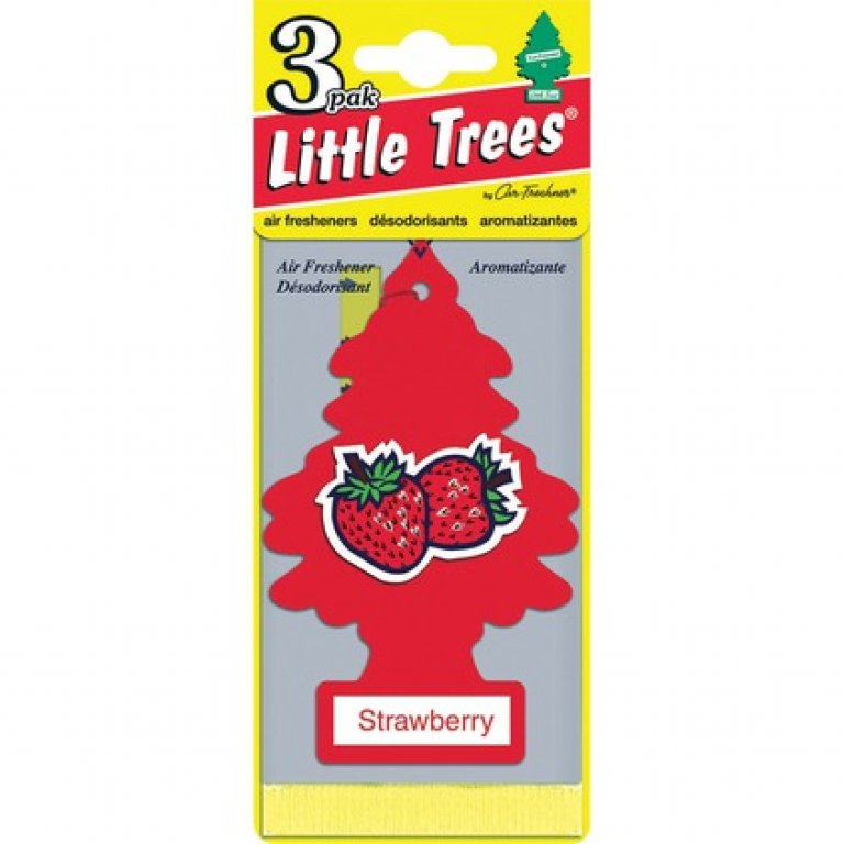 Little Trees Air Freshener - Strawberry, 3 PACK