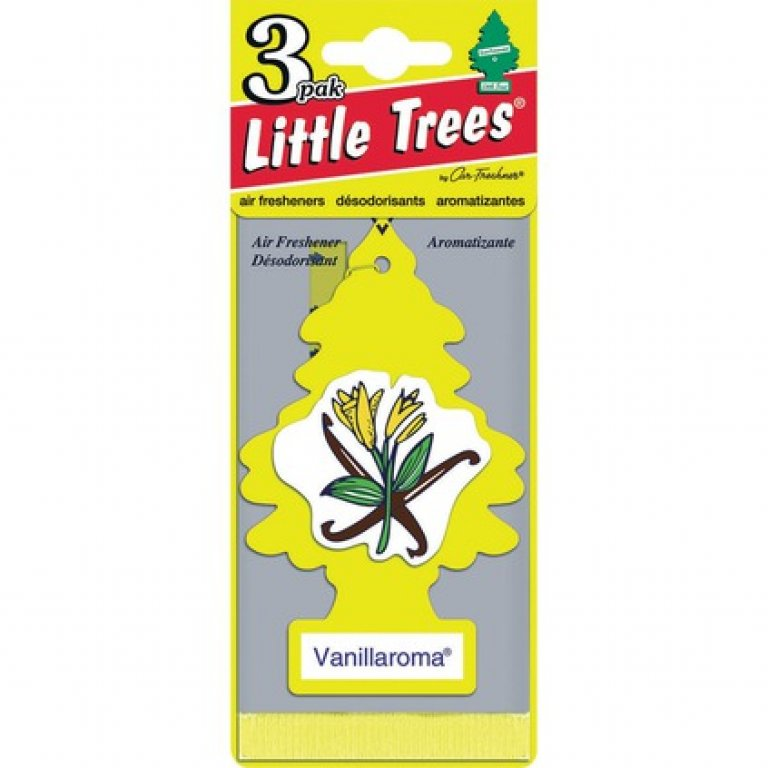 Little Trees Air Freshener - Vanillaroma, 3 PACK